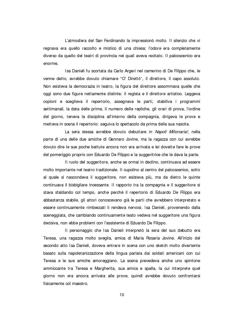 Anteprima della tesi: Ritratto d'attrice: Isa Danieli, dall'esordio teatrale all'incontro con la drammaturgia contemporanea, Pagina 10