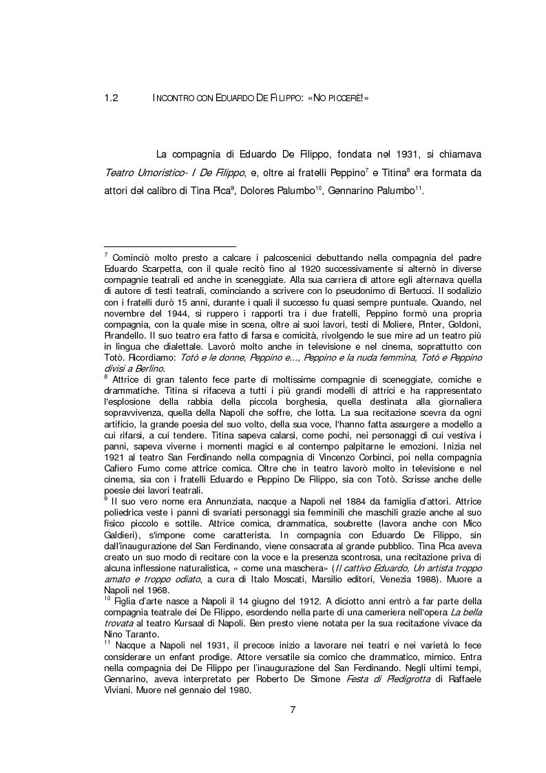 Anteprima della tesi: Ritratto d'attrice: Isa Danieli, dall'esordio teatrale all'incontro con la drammaturgia contemporanea, Pagina 7