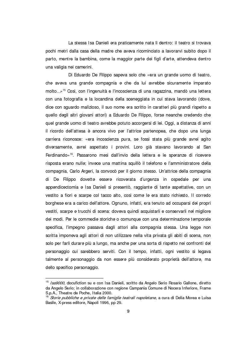 Anteprima della tesi: Ritratto d'attrice: Isa Danieli, dall'esordio teatrale all'incontro con la drammaturgia contemporanea, Pagina 9