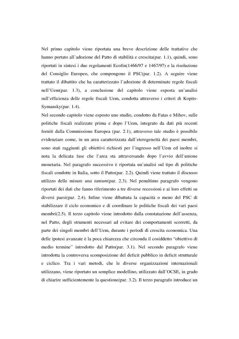 Anteprima della tesi: Successi e limiti del Patto di Stabilità e Crescita, Pagina 3