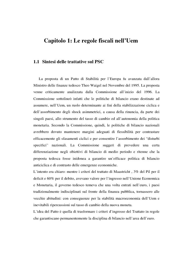 Anteprima della tesi: Successi e limiti del Patto di Stabilità e Crescita, Pagina 5