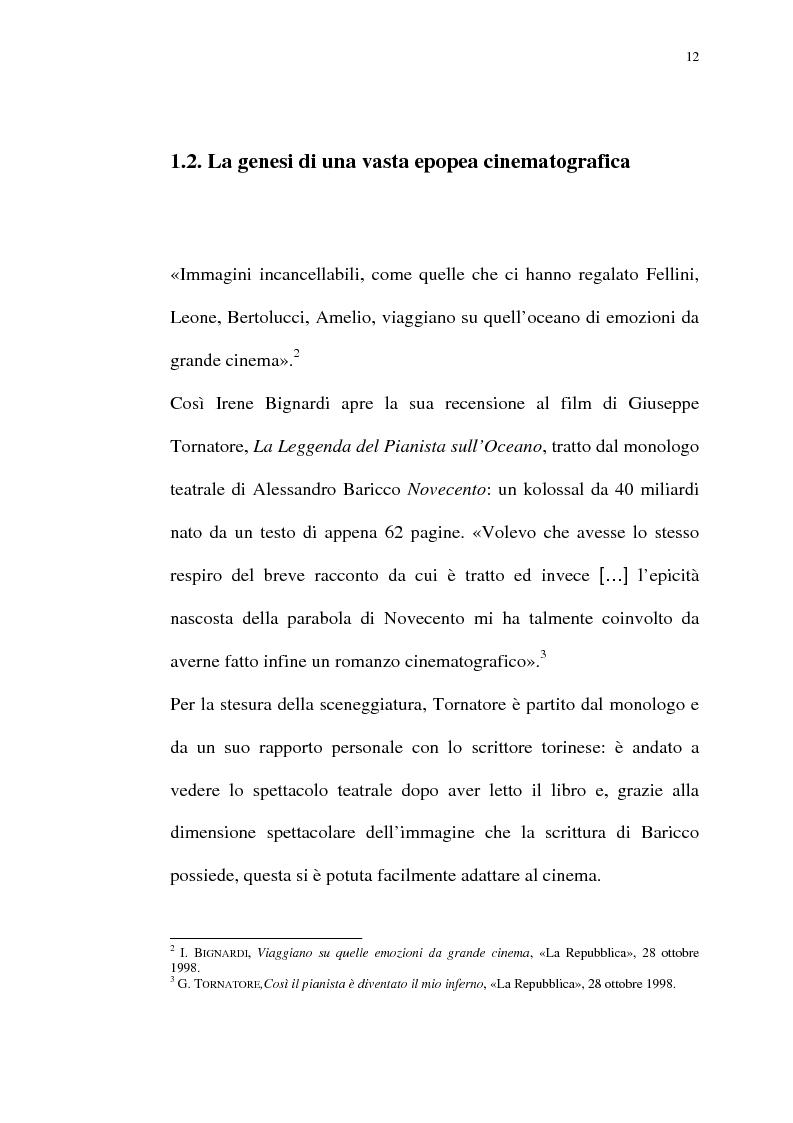 Anteprima della tesi: Per Giuseppe Tornatore: La leggenda del Pianista sull'Oceano, Pagina 10