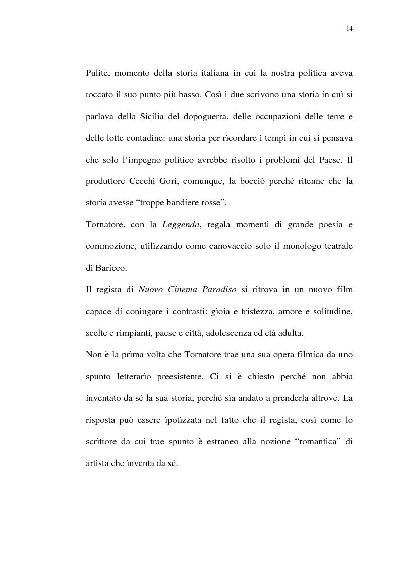 Anteprima della tesi: Per Giuseppe Tornatore: La leggenda del Pianista sull'Oceano, Pagina 12