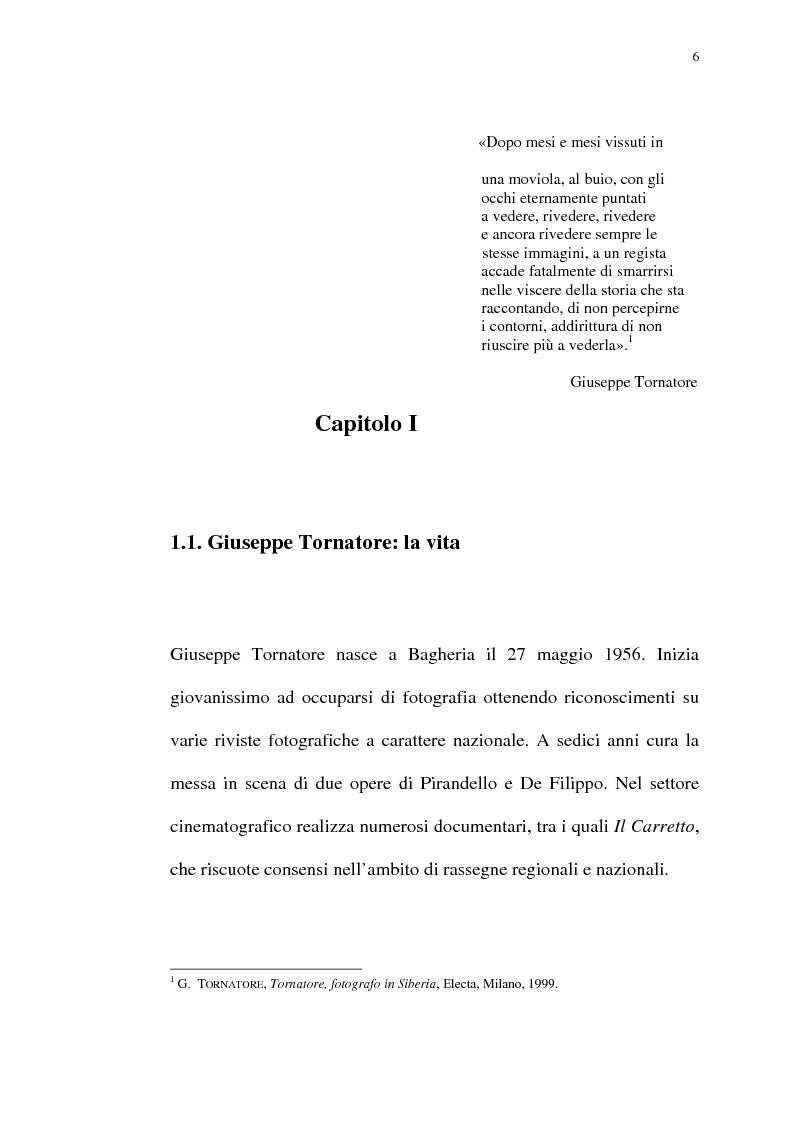 Anteprima della tesi: Per Giuseppe Tornatore: La leggenda del Pianista sull'Oceano, Pagina 4