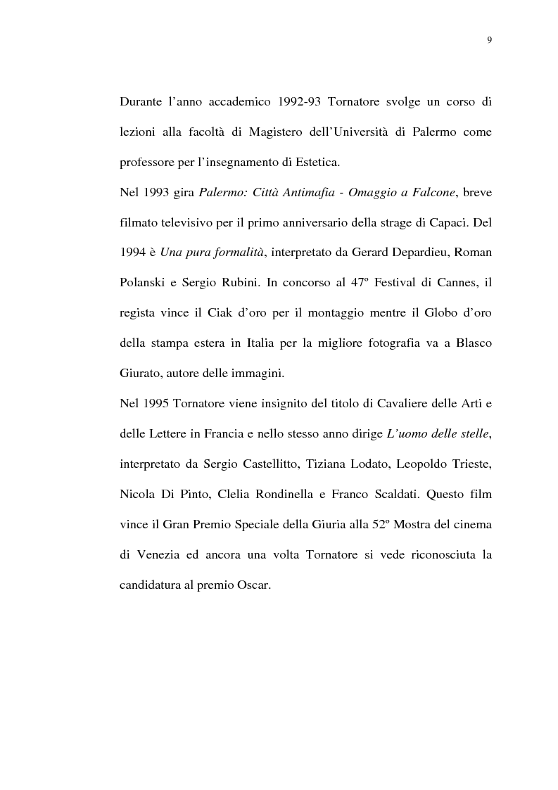 Anteprima della tesi: Per Giuseppe Tornatore: La leggenda del Pianista sull'Oceano, Pagina 7