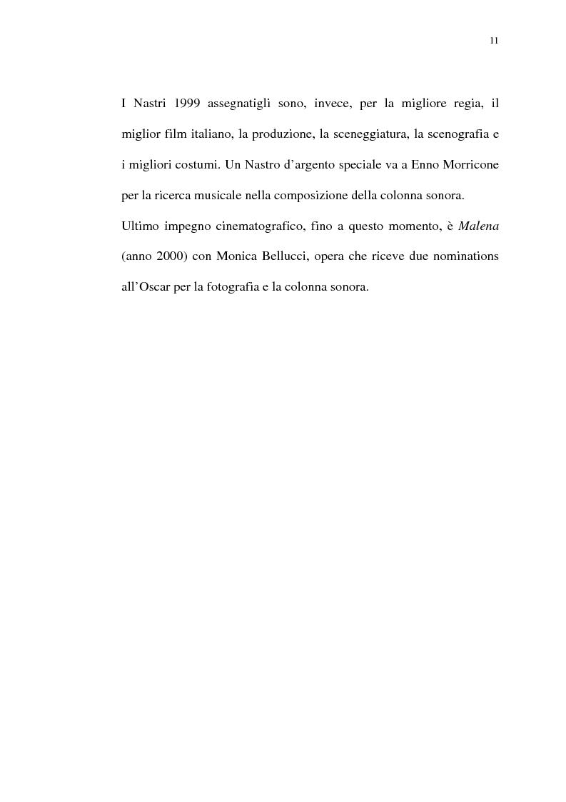 Anteprima della tesi: Per Giuseppe Tornatore: La leggenda del Pianista sull'Oceano, Pagina 9
