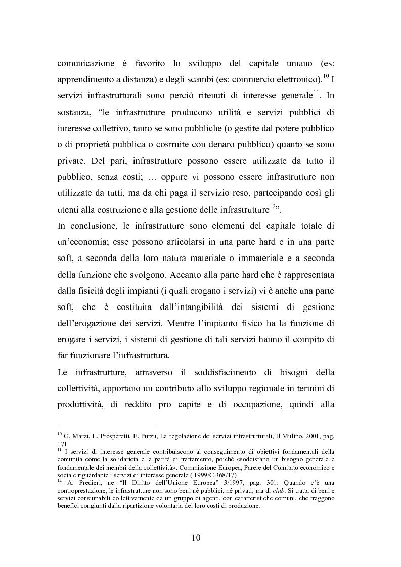 Anteprima della tesi: Il ruolo delle infrastrutture nello sviluppo regionale: la complessità normativa come fattore di rallentamento dei processi decisionali, Pagina 10