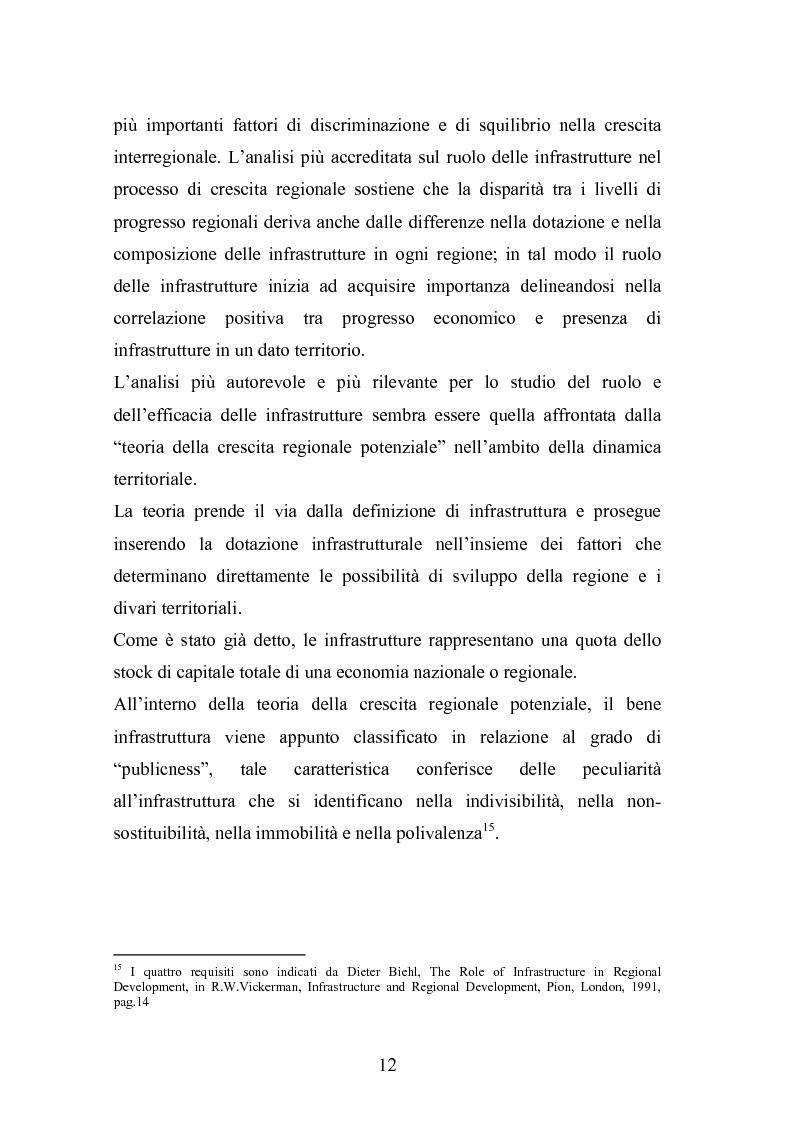 Anteprima della tesi: Il ruolo delle infrastrutture nello sviluppo regionale: la complessità normativa come fattore di rallentamento dei processi decisionali, Pagina 12