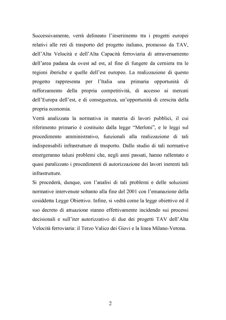 Anteprima della tesi: Il ruolo delle infrastrutture nello sviluppo regionale: la complessità normativa come fattore di rallentamento dei processi decisionali, Pagina 2