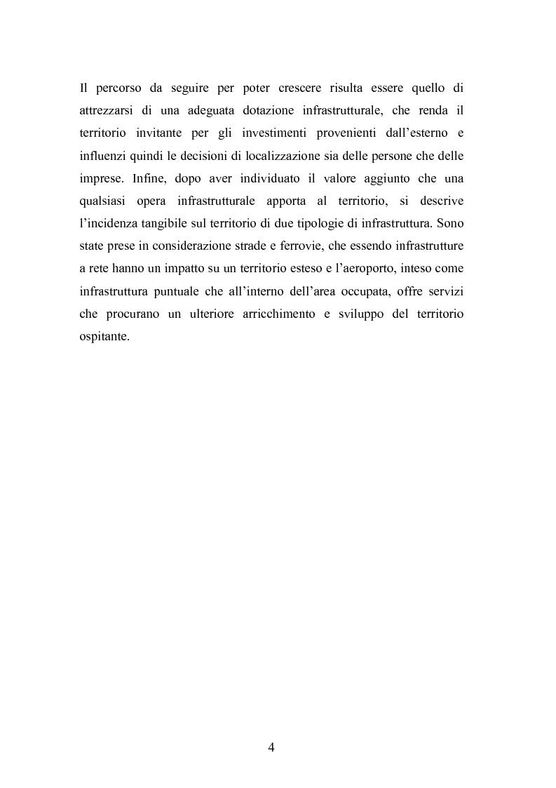 Anteprima della tesi: Il ruolo delle infrastrutture nello sviluppo regionale: la complessità normativa come fattore di rallentamento dei processi decisionali, Pagina 4
