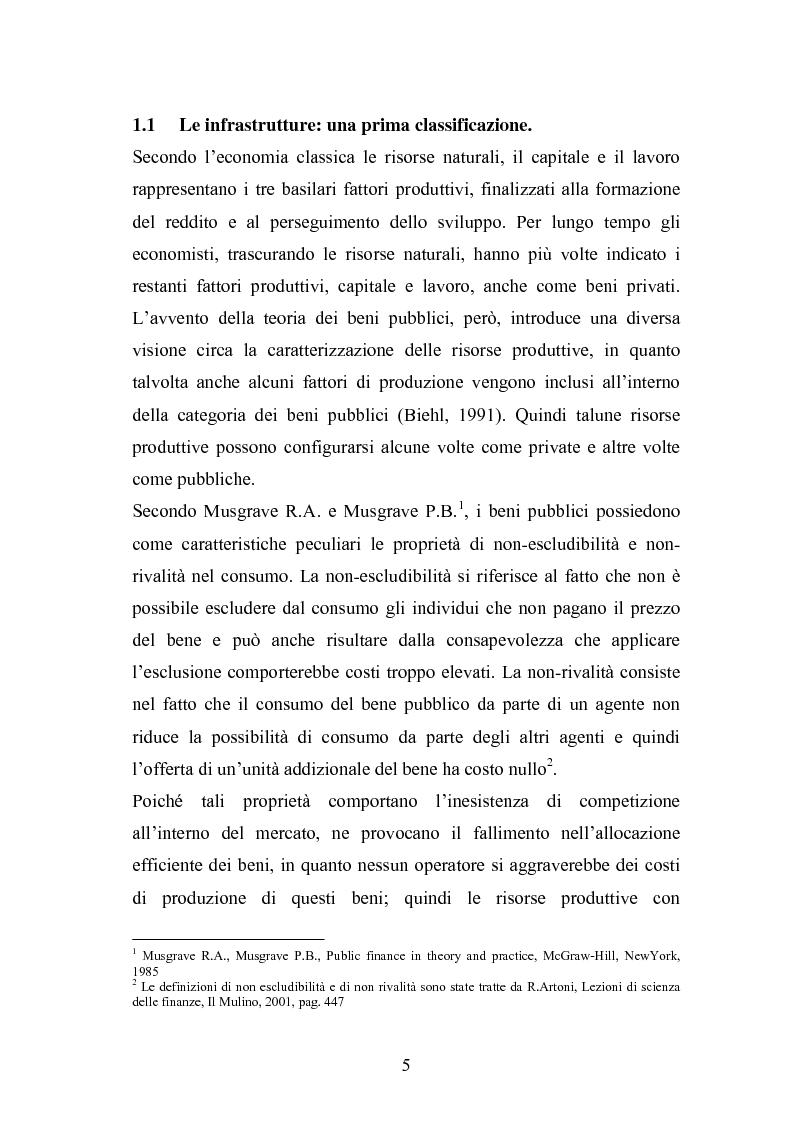 Anteprima della tesi: Il ruolo delle infrastrutture nello sviluppo regionale: la complessità normativa come fattore di rallentamento dei processi decisionali, Pagina 5