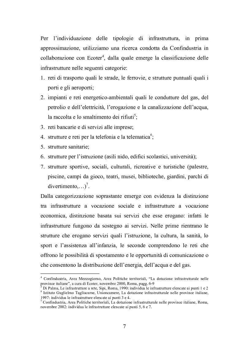 Anteprima della tesi: Il ruolo delle infrastrutture nello sviluppo regionale: la complessità normativa come fattore di rallentamento dei processi decisionali, Pagina 7
