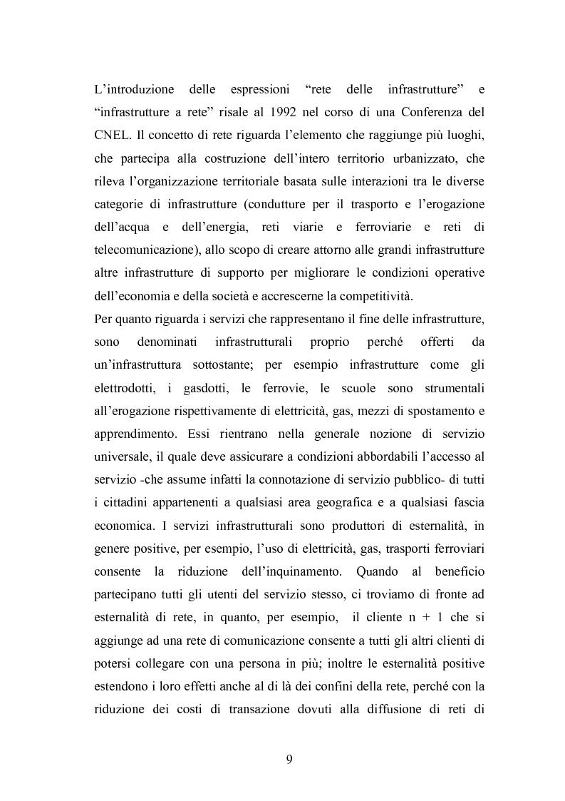 Anteprima della tesi: Il ruolo delle infrastrutture nello sviluppo regionale: la complessità normativa come fattore di rallentamento dei processi decisionali, Pagina 9