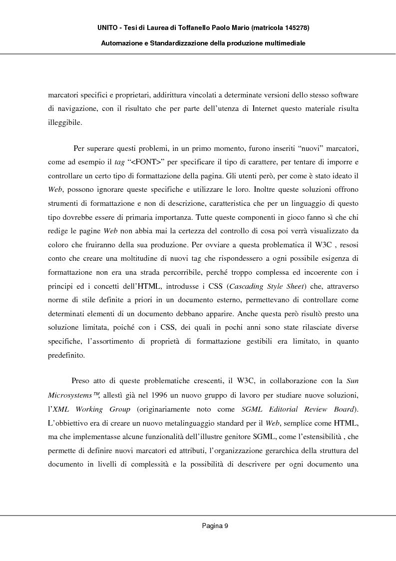 Anteprima della tesi: Automazione e Standardizzazione della produzione multimediale, Pagina 5
