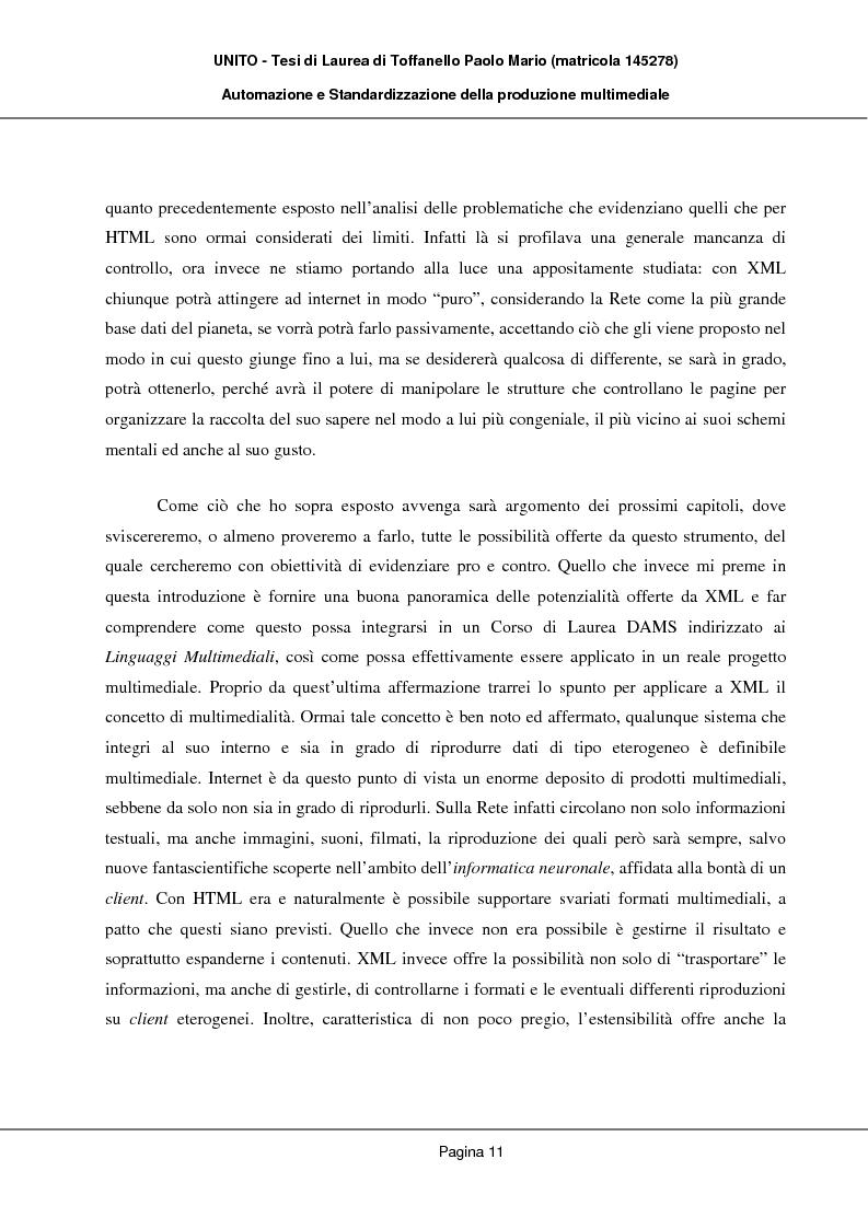 Anteprima della tesi: Automazione e Standardizzazione della produzione multimediale, Pagina 7