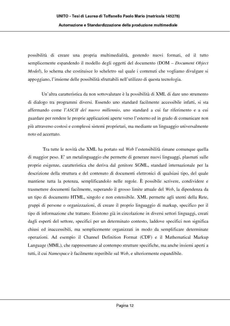 Anteprima della tesi: Automazione e Standardizzazione della produzione multimediale, Pagina 8