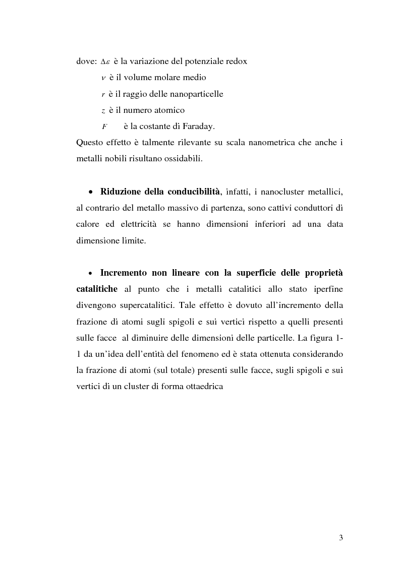 Anteprima della tesi: Studio del meccanismo di formazione di cluster d'oro mediante spettroscopia ottica, Pagina 3