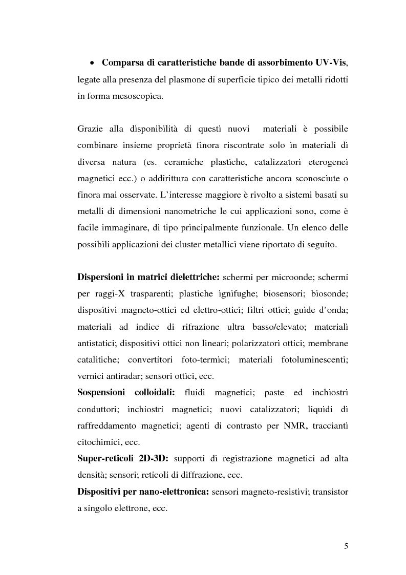 Anteprima della tesi: Studio del meccanismo di formazione di cluster d'oro mediante spettroscopia ottica, Pagina 5