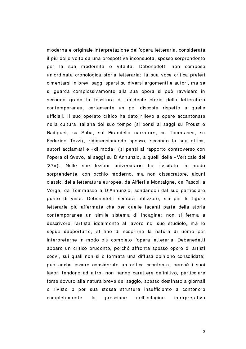 Anteprima della tesi: Giacomo Debenedetti: una ''particella estranea'' nella storia della critica letteraria italiana del Novecento, Pagina 7
