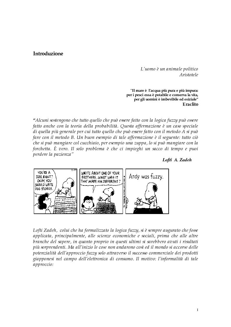 Anteprima della tesi: Le scelte pubbliche: un approccio fuzzy, Pagina 1