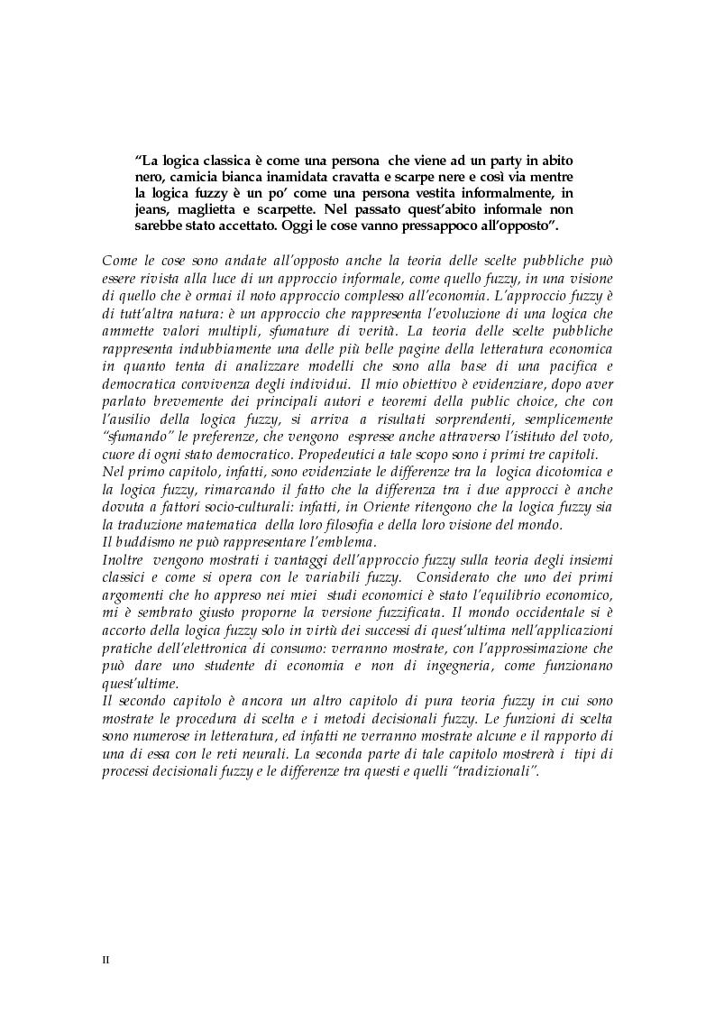 Anteprima della tesi: Le scelte pubbliche: un approccio fuzzy, Pagina 2
