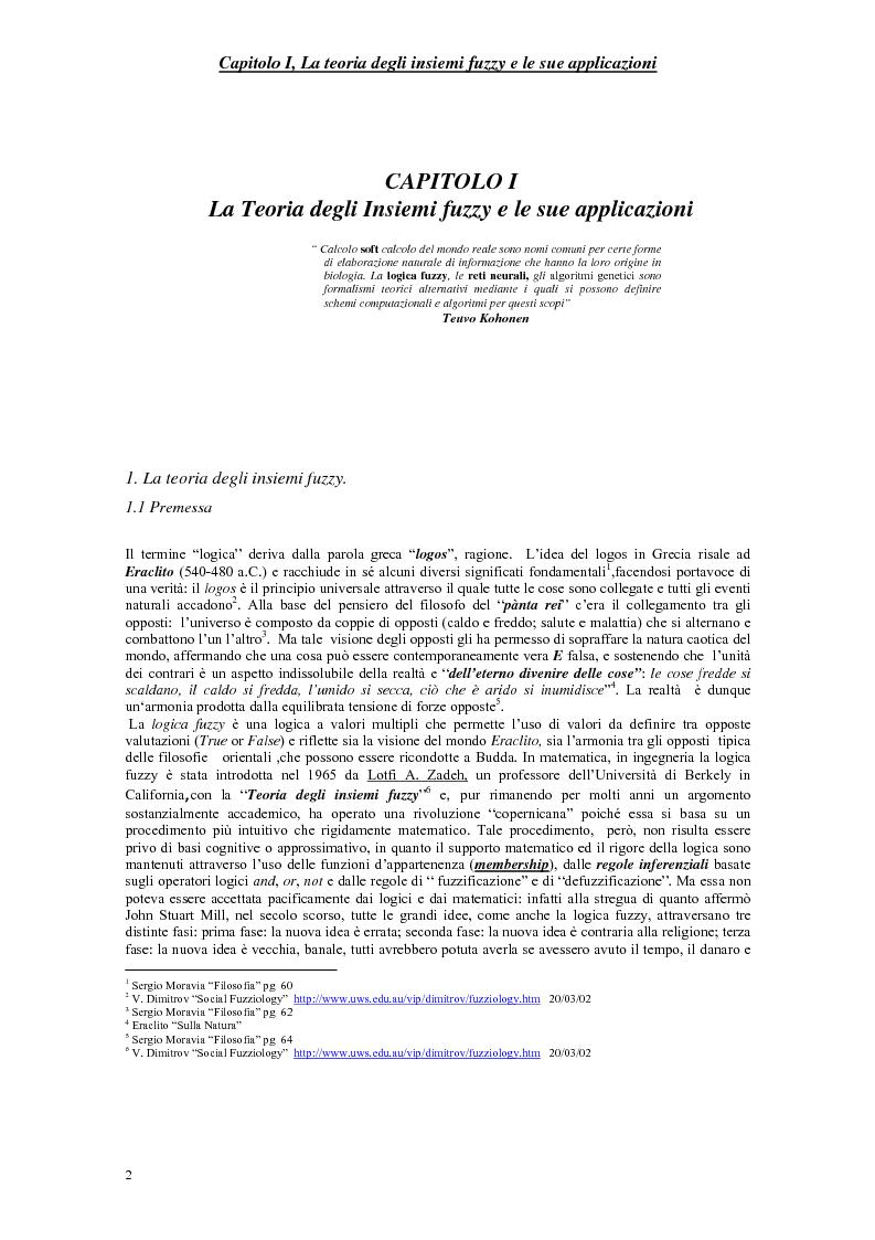 Anteprima della tesi: Le scelte pubbliche: un approccio fuzzy, Pagina 5