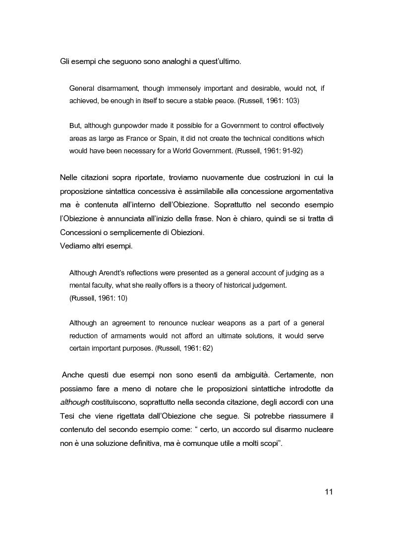 Anteprima della tesi: Sintassi e lessico dell'argomentazione, Pagina 10