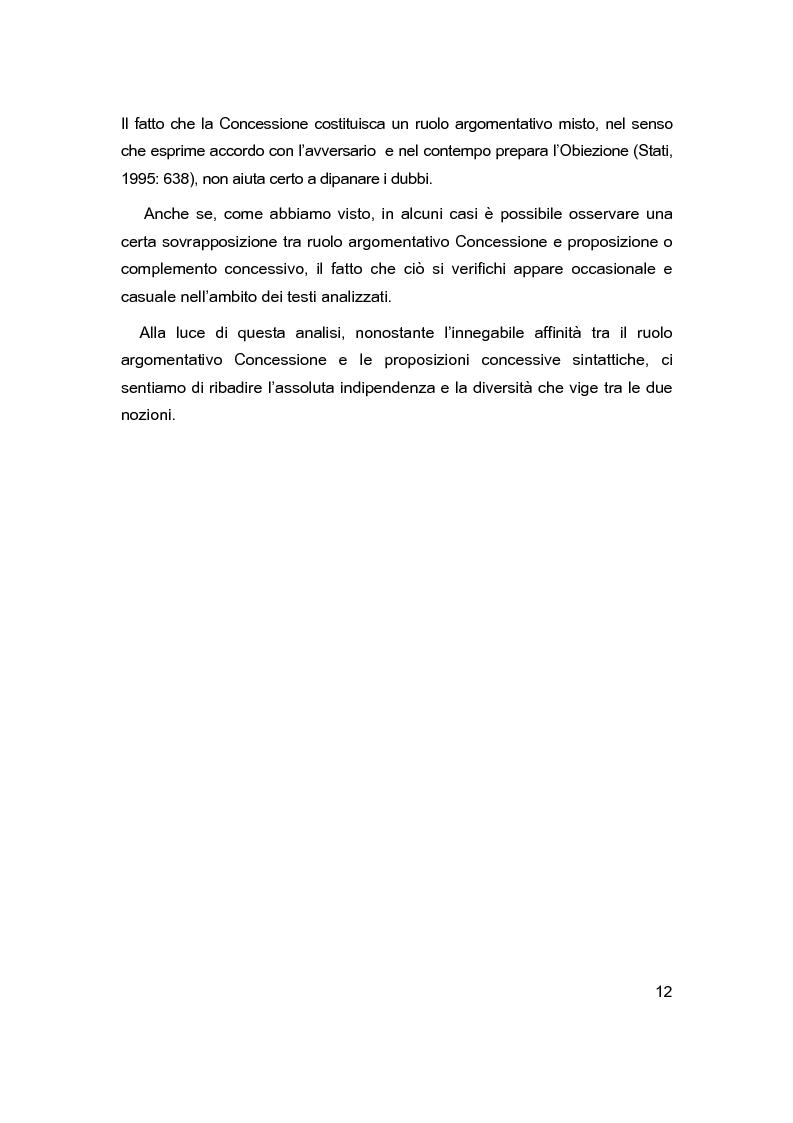 Anteprima della tesi: Sintassi e lessico dell'argomentazione, Pagina 11