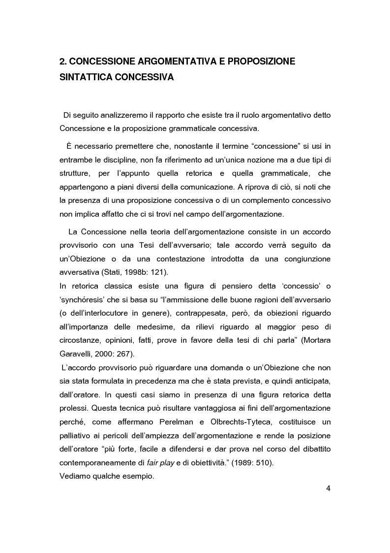 Anteprima della tesi: Sintassi e lessico dell'argomentazione, Pagina 3