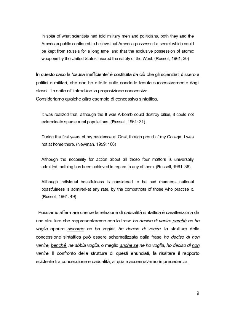 Anteprima della tesi: Sintassi e lessico dell'argomentazione, Pagina 8