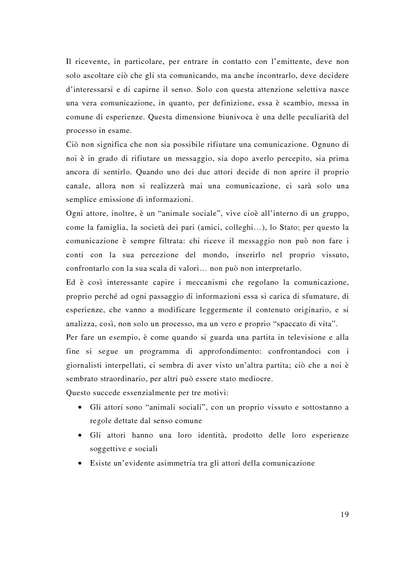 Anteprima della tesi: Comunicazione e sport: il caso della pallavolo, Pagina 10
