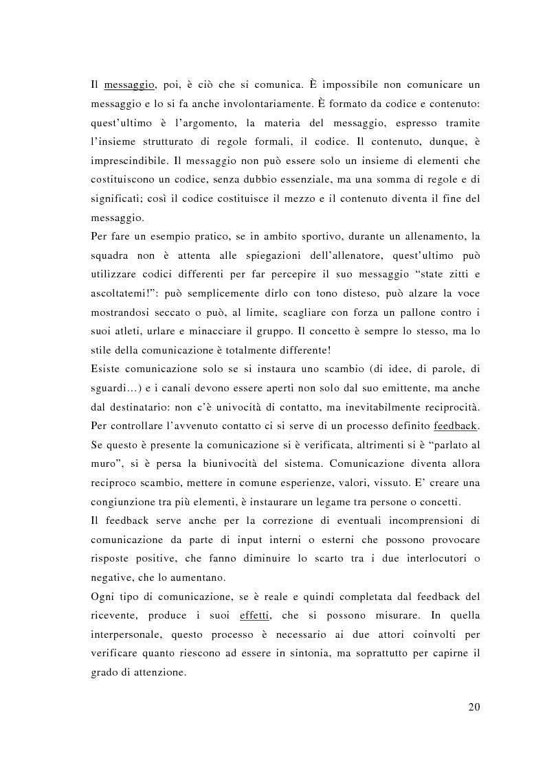 Anteprima della tesi: Comunicazione e sport: il caso della pallavolo, Pagina 11