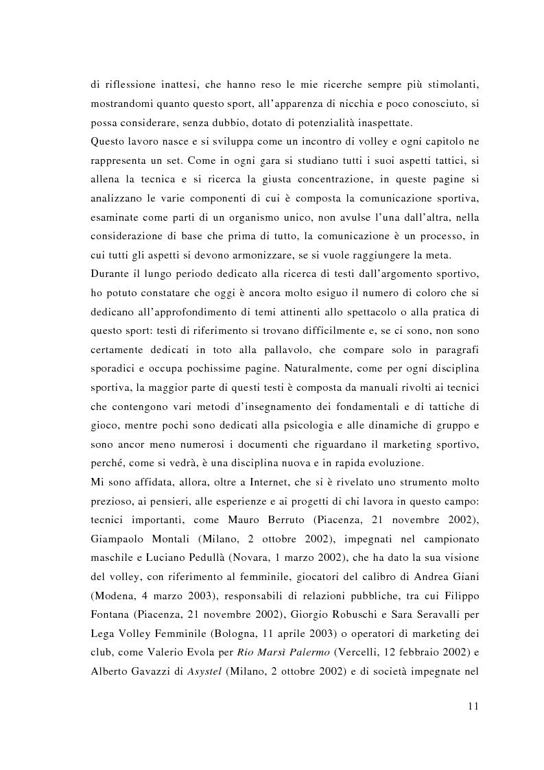 Anteprima della tesi: Comunicazione e sport: il caso della pallavolo, Pagina 2