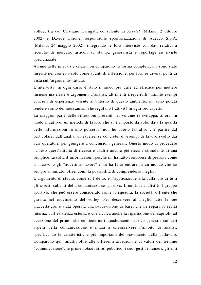 Anteprima della tesi: Comunicazione e sport: il caso della pallavolo, Pagina 3