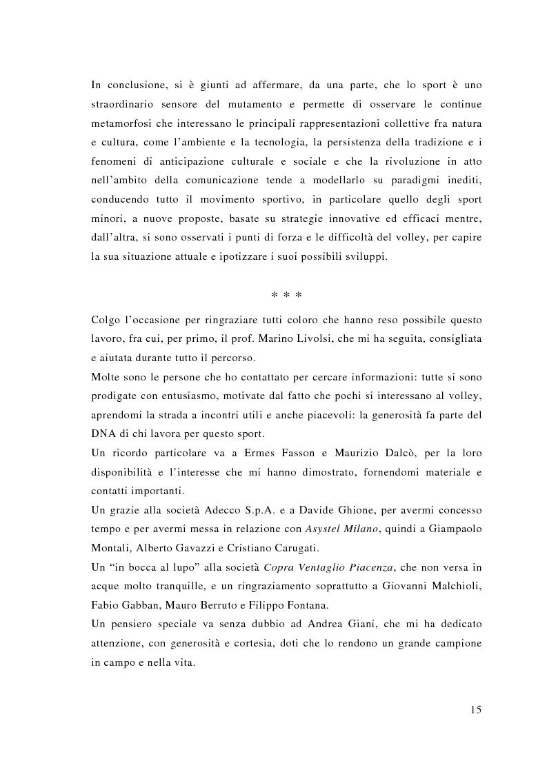 Anteprima della tesi: Comunicazione e sport: il caso della pallavolo, Pagina 6
