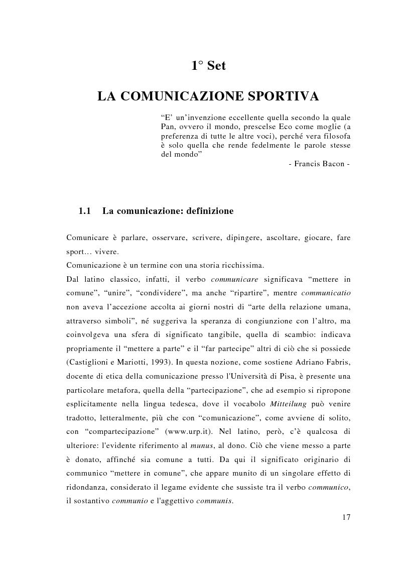Anteprima della tesi: Comunicazione e sport: il caso della pallavolo, Pagina 8