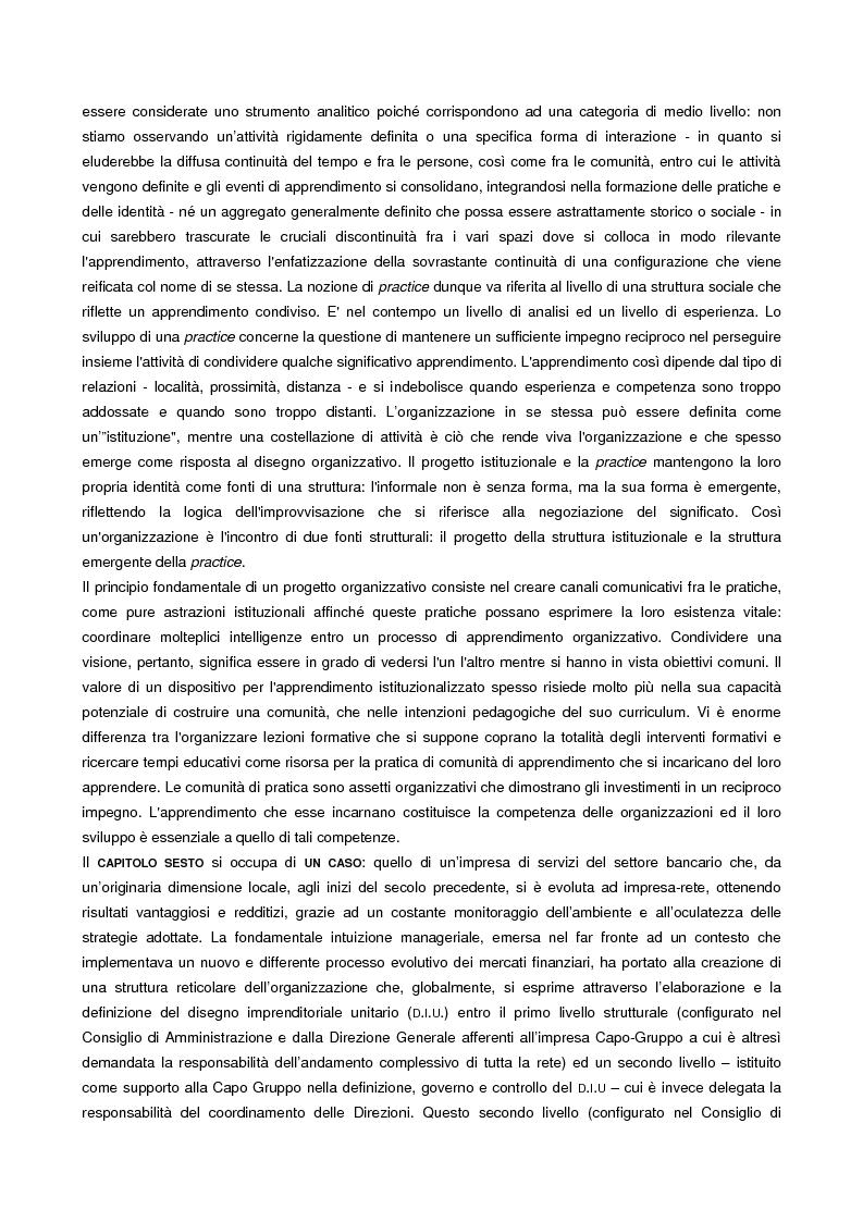 Anteprima della tesi: L'apprendimento organizzativo come capacità evolutiva. Il caso di un'impresa a rete., Pagina 4