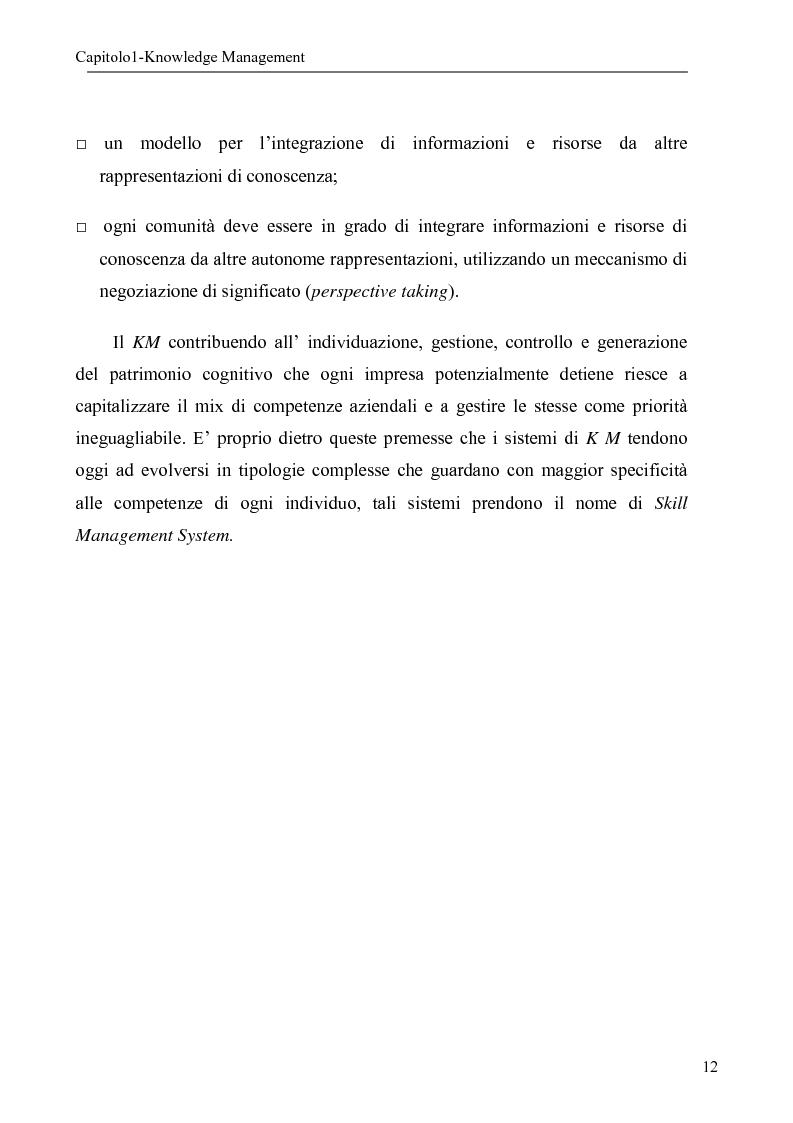 Anteprima della tesi: Sistema per la gestione degli skills con metodologie di rappresentazione della conoscenza, Pagina 12