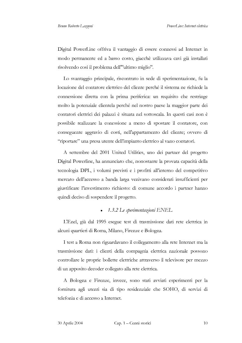 Anteprima della tesi: Powerline: Internet Elettrica, Pagina 13