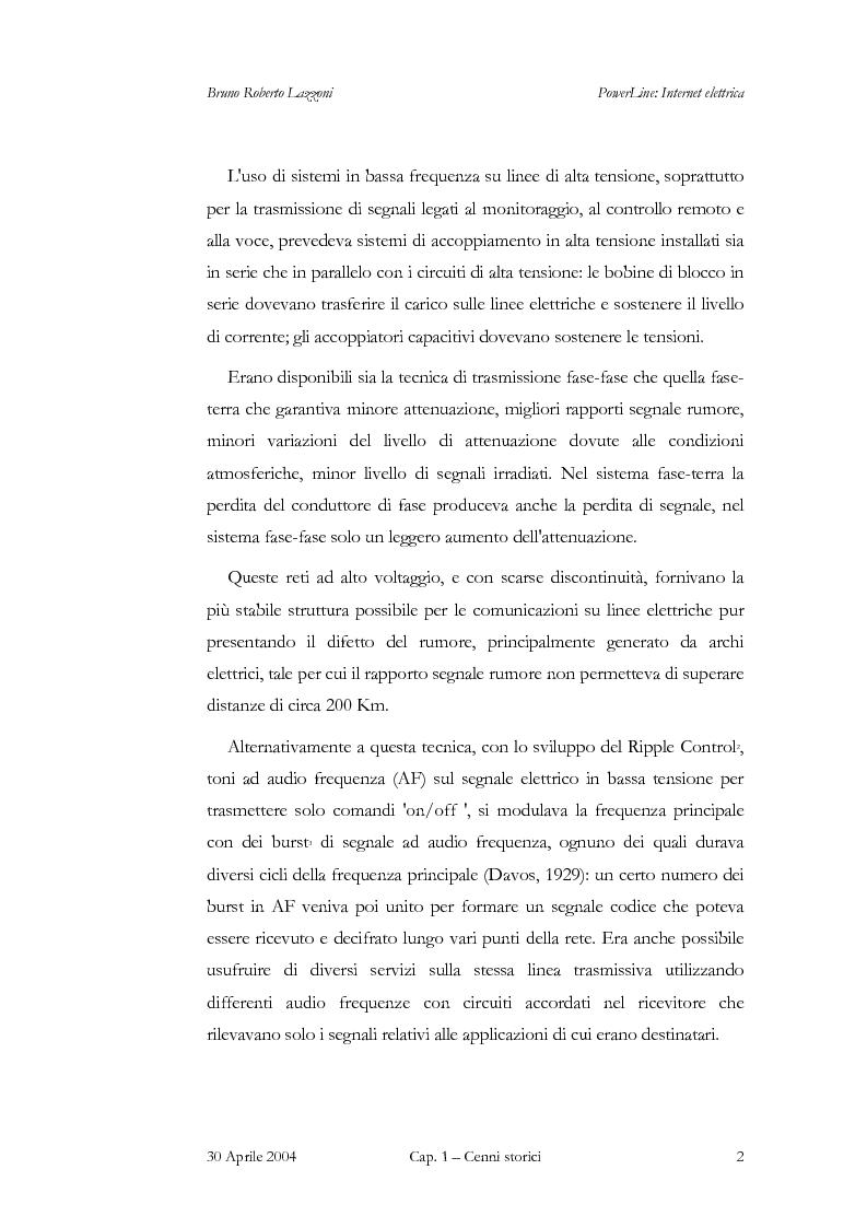 Anteprima della tesi: Powerline: Internet Elettrica, Pagina 5