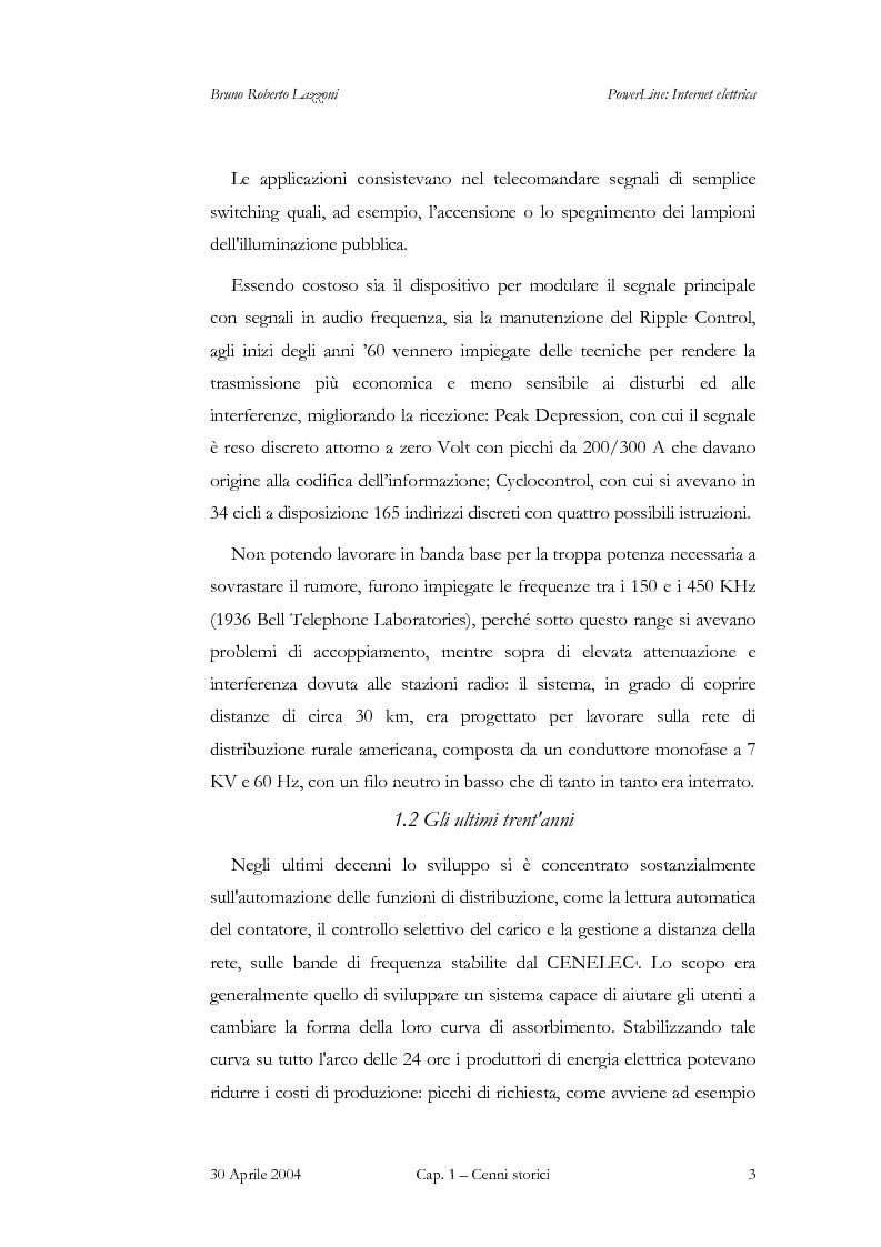 Anteprima della tesi: Powerline: Internet Elettrica, Pagina 6