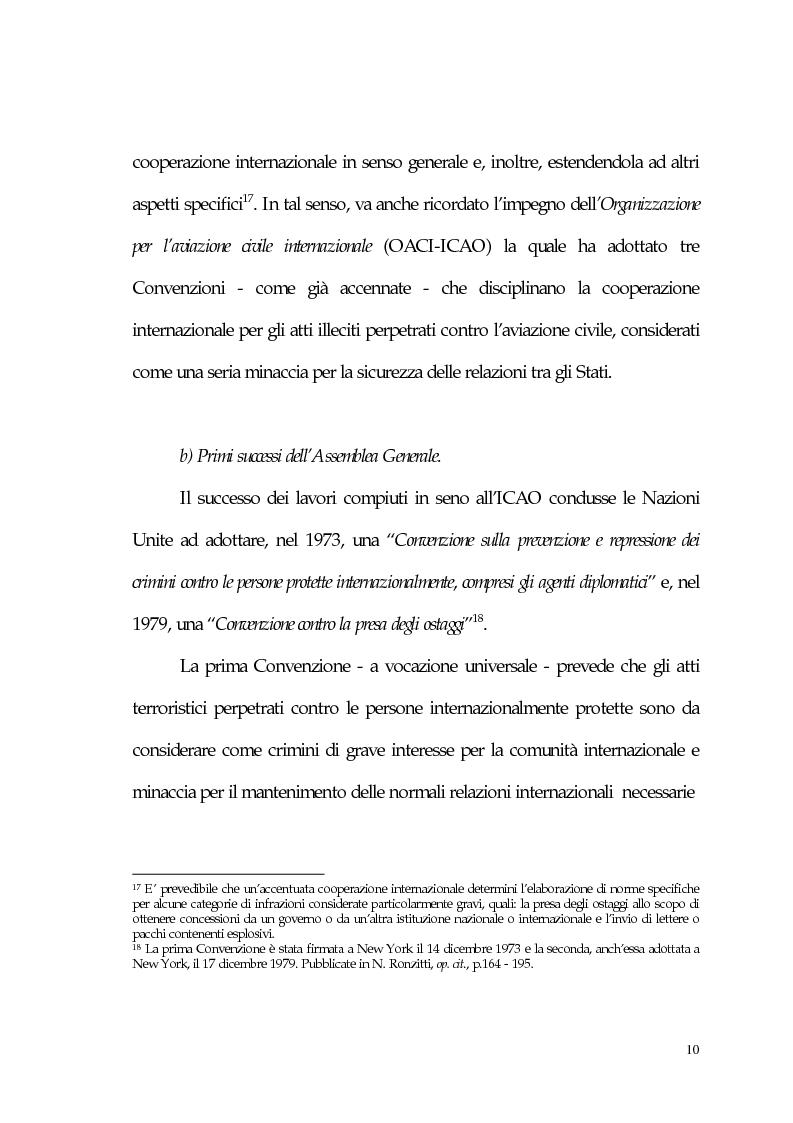 Anteprima della tesi: Aspetti giuridici del terrorismo internazionale, Pagina 10