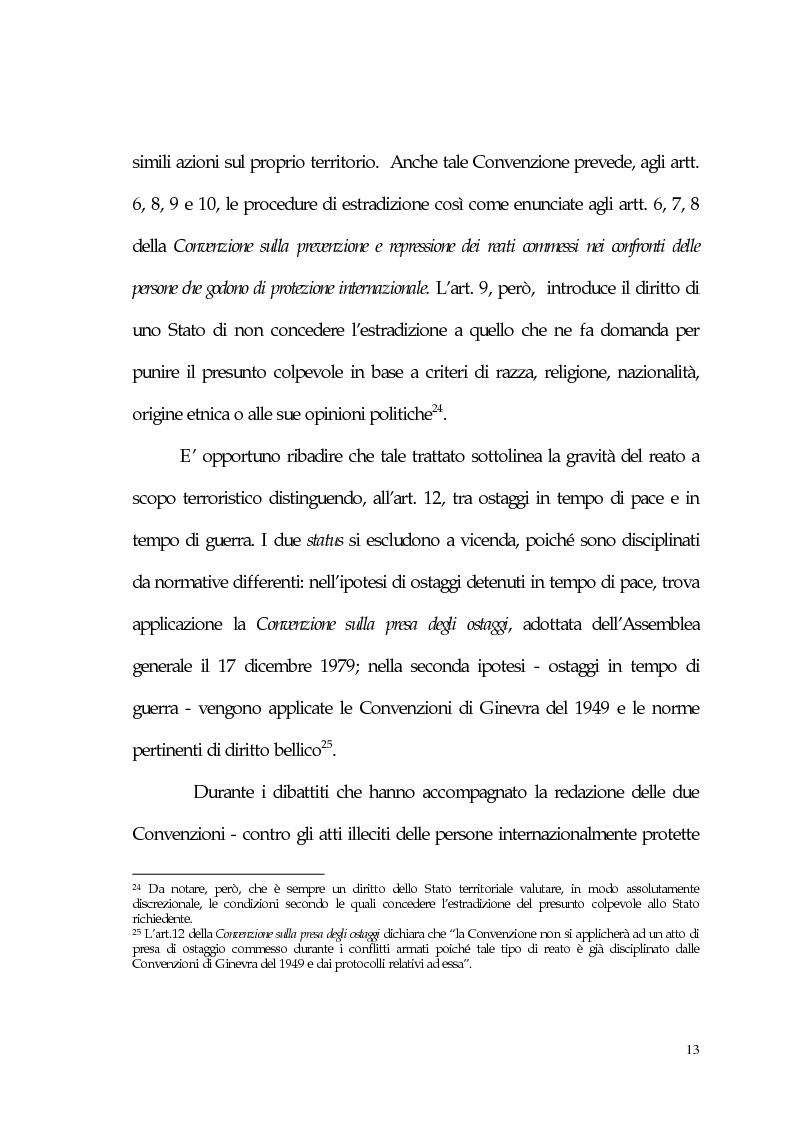 Anteprima della tesi: Aspetti giuridici del terrorismo internazionale, Pagina 13