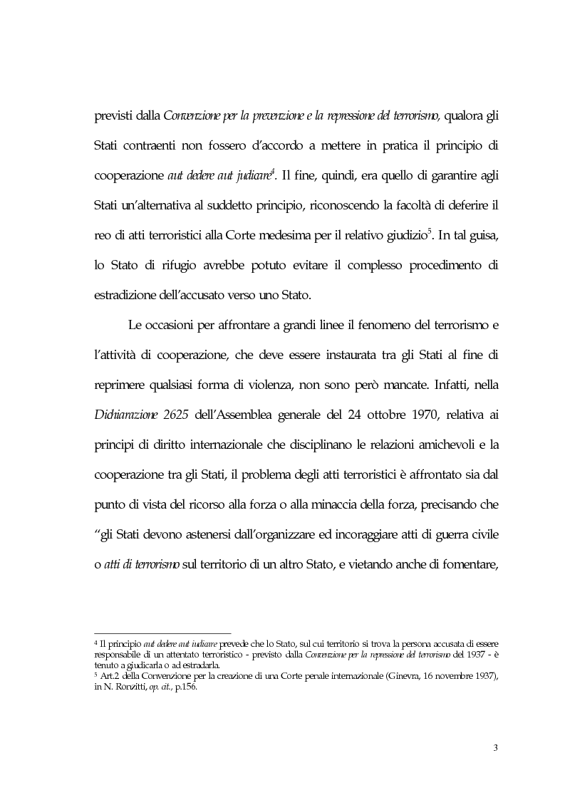Anteprima della tesi: Aspetti giuridici del terrorismo internazionale, Pagina 3