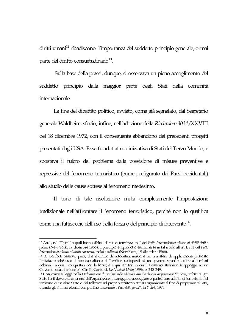 Anteprima della tesi: Aspetti giuridici del terrorismo internazionale, Pagina 8