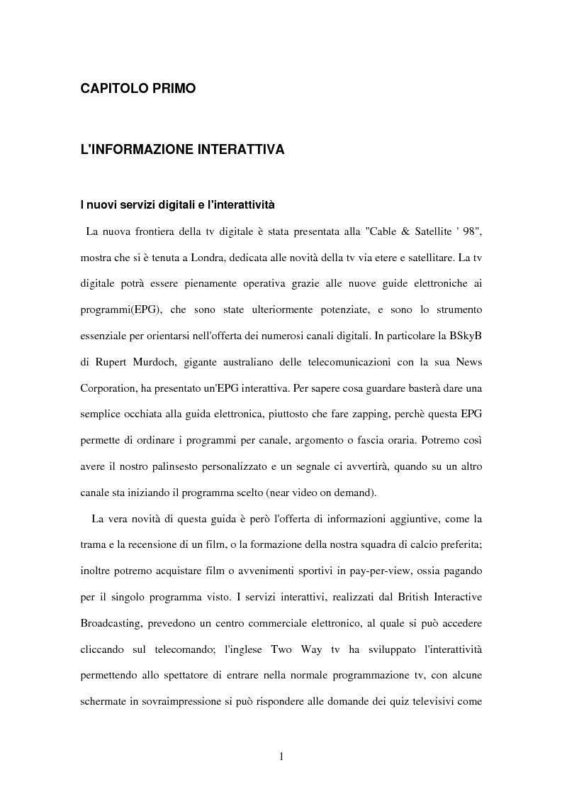 Anteprima della tesi: Il tg nei bit, Pagina 5
