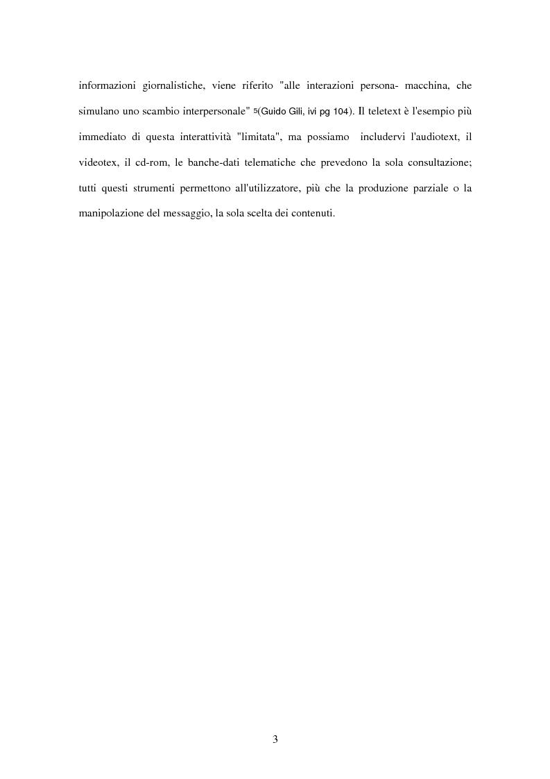 Anteprima della tesi: Il tg nei bit, Pagina 7