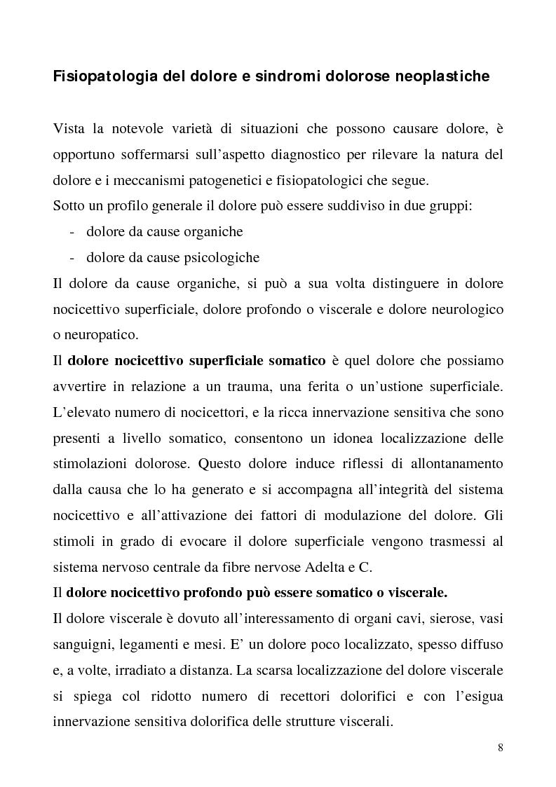 Anteprima della tesi: Trattamento del dolore oncologico, Pagina 6