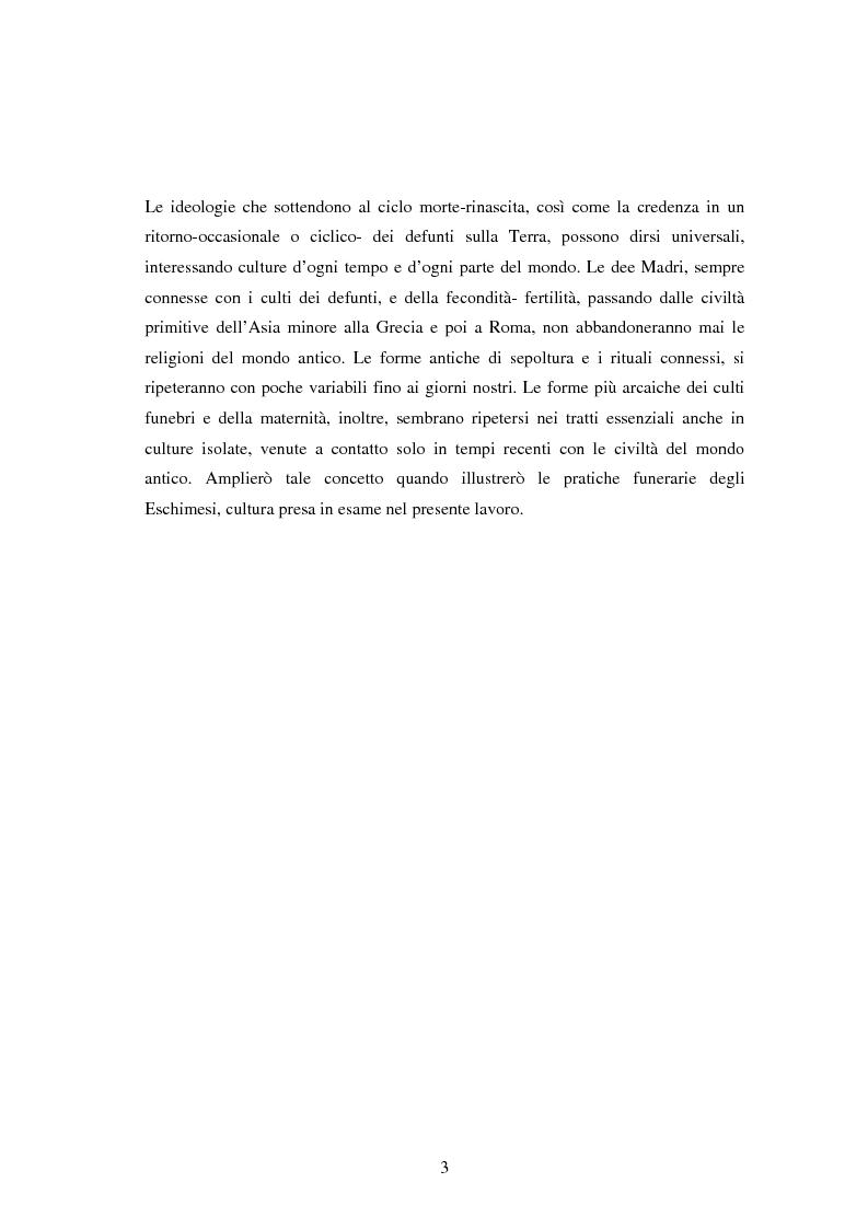Anteprima della tesi: I riti funebri nelle popolazioni eschimesi e sarda, Pagina 5