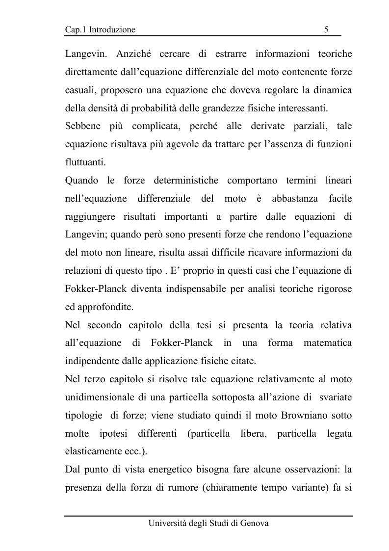 Anteprima della tesi: Equazioni di evoluzione di processi aleatori in meccanica classica e quantistica, Pagina 4